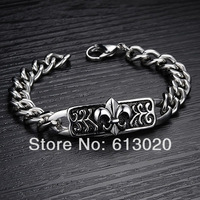 2014 New Fashion Jewelry Retro Style Stainless Steel Titanium Steel Men's Bracelets Bangles