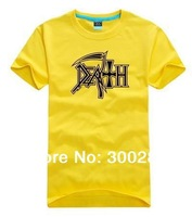 wholesale 2014 brand O-neck casual short-sleeve cotton T-shirt men's women's Rock band clothing - Death 050
