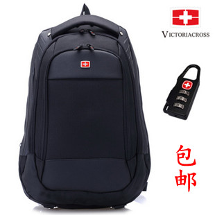 Swiss gear backpack male casual double-shoulder bag laptop bag travel bag school bag free shipping(China (Mainland))
