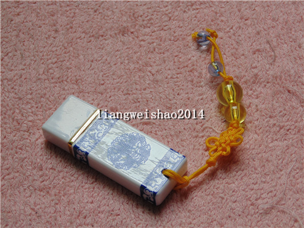 Blue and white porcelain 4gb 8gb 16gb 32gb ceramic usb flash drive gift box customized logo printing pen usb 2.0 stick disk(China (Mainland))