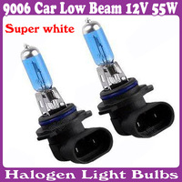 9006 Halogen Xenon Litht Car Low Beam 12V 55W New Super White Lights Bulbs 6000K 6 pcs/Lot