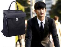 2015 New Preppy Korean Style Backpacks Korean Men's Black School Leather Backpack Herschel Backpacks mochila feminina