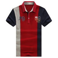 Men England style polo. 2014 summer new fashion men's plus size polo shirts.  Red and green. M-6XL. Free shipping. NE21