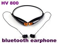 HOT Wireless Bluetooth Stereo Earphone Neckband HV-800 HV 800 In-Ear Headset A2DP For LG Samsung S5 i5S 50pcs Free Shipping