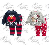 children clothing sets,fashion boys girls kids pajama sets,unisex toddler baby clothes sets,cartoon child pyjama suit