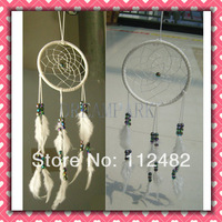 New Korea Hot White Dreamcatcher Wind Chimes Indian Feather Pendant Dream Catcher Gift
