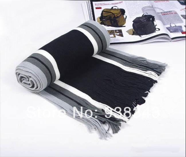 New Spring 2014 Fashion all-match cashmere Scarfs Striped acrylic Scarf Men Logo Classic Brand Scarves shawl pashimina scarf(China (Mainland))