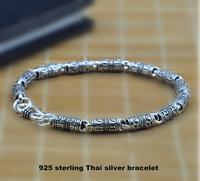 Wholesale Genuine 100% Real Pure 925 Sterling Silver 5mm Men bracelet . Punk style Men jewelry .free shipping fine jewelry HYB1