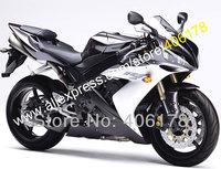 Free shipping,For YAMAHA YZF-R1 YZF R1 YZF1000 R1 04 05 06 2004 2005 2006 Black White YZF1000 R1 fairing (Injection molding)