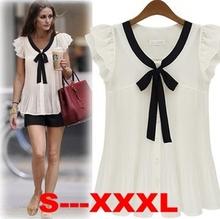 popular silk butterfly blouse