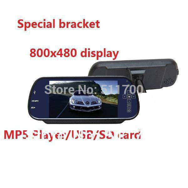 7'' Car Parking Rearview Mirror For Ford Escape,MP4/MP5 Player,Car Reverse Monitor,800x480p(China (Mainland))