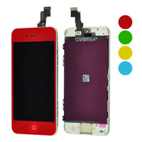 Free Shipping Full Front LCD Display Touch Screen Digitizer Assembly with Frame for iPhone 5C