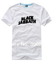 wholesale 2014 brand O-neck casual short-sleeve cotton T-shirt men's women's Rock band clothing - Black Sabbath 061