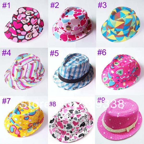 шапка для мальчиков qiaran fedora 10pcs lot fedoras Шапка для мальчиков fedora Sunbonnet 10set BH005