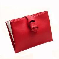 Bow closing Red&white colour cross Day Clutch  Evening bag Handbag