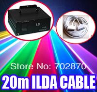 Factory High quality guarantee! 5000mW 5W RGB Animation PT20K pps+DMX512+20m ILDA  cable DJ Party Disco Club Stage Laser Light