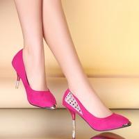 большой размер 34-43 сладкий черный красный бежевый мода середины пятки женщин девочек обувь насосы d547
