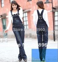 New Sale Women's Overalls Jeans Gallus pants women Denim Jumpsuits Rompers/Female suspender/braces pants long trouser/WOQ