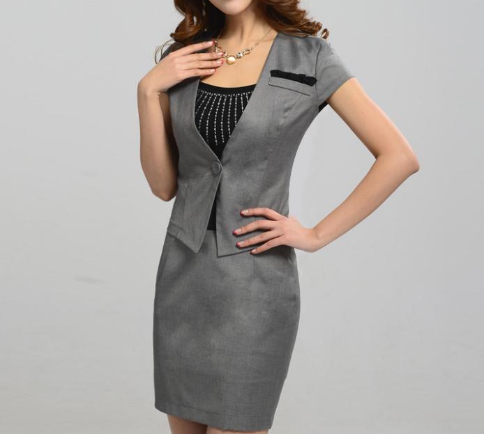 2017 Wholesale Women Business Suit Formal Office Dress Suits Work