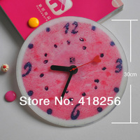 Free shipping Acrylic mute bell watermelon personalized home creative fashion DIY wall clock / living room clocks