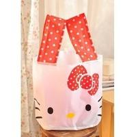2014Free Shipping+hot sale women one shoulder bag handbag Travel Handbag Shopping Totes hello kitty with bowknot enviromental