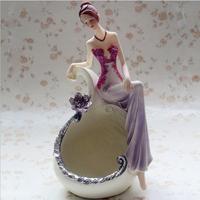 Fashion fashion prom beautiful woman the dressing mirror dresser gift classical lady casked powder