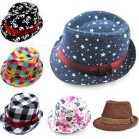 Mixed Style Fashion Children Hat Dicers Kids Trilby Baby Fedora Hats Cowboy Hat Kids Boy Girl Jazz Cap Summer Sun Hat Drop Ship