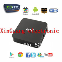 4.2.2 Dual Core Android TV Box,XBMC Midnight MX,1G RAM, 8G ROM,Dual ARM Cortex A9,Build in WiFi,Remote Control,Free Shipping