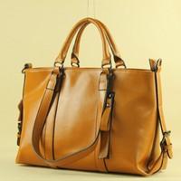 2014 NEW Genuine cowhide leather Women's fashion handbag One shoulder bag Tote bag Messenger bag