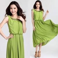 free shipping 0700 bohemia fashion paillette slim waist candy full dress beach dress one-piece dress