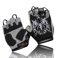 Ghost Wolf Outdoor Riding,Bicycle Wear Short Finger Glove/Silicone Shock Resistant Gloves