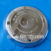 top quality custom personalized medal  real silver plated coin free shipping
