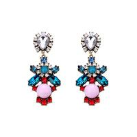 [Clear inventory] only 1 pari in stock Fashion Women's vintage luxury earrings retro gem earrings rhinestone crystal earrings