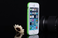 50pieces/lot For iphone 5/5s bumper ultra-thin Polycarbonate Silicone bumper