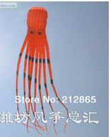 8m single Line Stunt Orange Parafoil Octopus POWER Sport Kite outdoor toys  Free Shipping !!  A++++