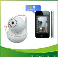 White Pan/Tilt Dual Audio Wireless WiFi Security CCTV IP Network  micro camera wifi IR Night Vision 10M