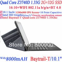 """New Tablet PC 10.1"""" Capacitive Intel Quad Core Baytrail-T Z3740D 1.33Ghz 2G RAM 32G SSD WIFI HDMI Dual Camera Window 8 Tablet PC"""