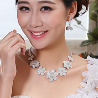 2014 bride necklace earrings wedding jewellery set necklace accessories