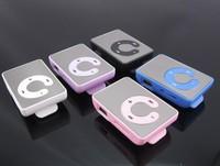 DHL Fedex Free Mini Sport Mirror Clip MP3 Music Player With Card Slot Wholesale 300pcs/lot