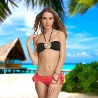 Sexy Women Ladies' Swimsuit Bathing Suit Swimwear Bikinis beach Vintage Push-up Padded Bra 2 piece monokini SET 368-161-093