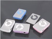 100pcs/lot Mini Sport Mirror Clip MP3 Music Player Support 8GB Memory Microsd Card Wholesale