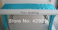 Wholesale 50pcs Turquoise Blue Aqua Satin Table Runner 28cmX250cm Wedding/HOT/Free shipping