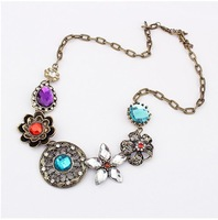 New 2014 Women Jewelry Vintage Flower Necklaces Chokers S239