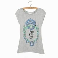 Free shipping 2014 new women clothing tops tees printing long T-shirt cotton casual women tshirts