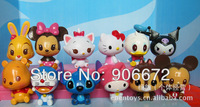 high quality hello kitty Wallet Pvc figure figurine toy Pendant toy doll TV&MOVIE action