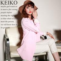 Blaser Feminino Real New Full Suits For Women 2014 Spring Gentlewomen Elegant Slim All-match Medium-long Long-sleeve Suit Jacket