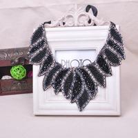 New 2014 Imitation Diamond Crystal Beads Necklaces Collar Women Jewelry