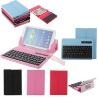 Colorful Removable Wireless Bluetooth ABS Plastic Keyboard PU Leather Case Stand For Asus FonePad ME371MG ME371 ME372 7""