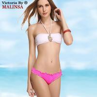Woen's Beachwear Swimwear Padded  Swimsuit Bikini Sets Bathing Suit Halter Top Side-Tie Bottom Push-up Underwire 370-010-092