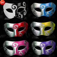 Vintage Roman Gladiator Men Mask Venetian masquerade Party costume Mardi Gras Prop Christmas gift EMS free shipping 100pcs/lot